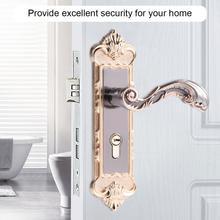 Estilo Europeo puerta Retro manija de bloqueo de aleación de aluminio Interior Vintage cerradura para dormitorio Anti-robo de casa habitación de seguridad cerraduras de la puerta