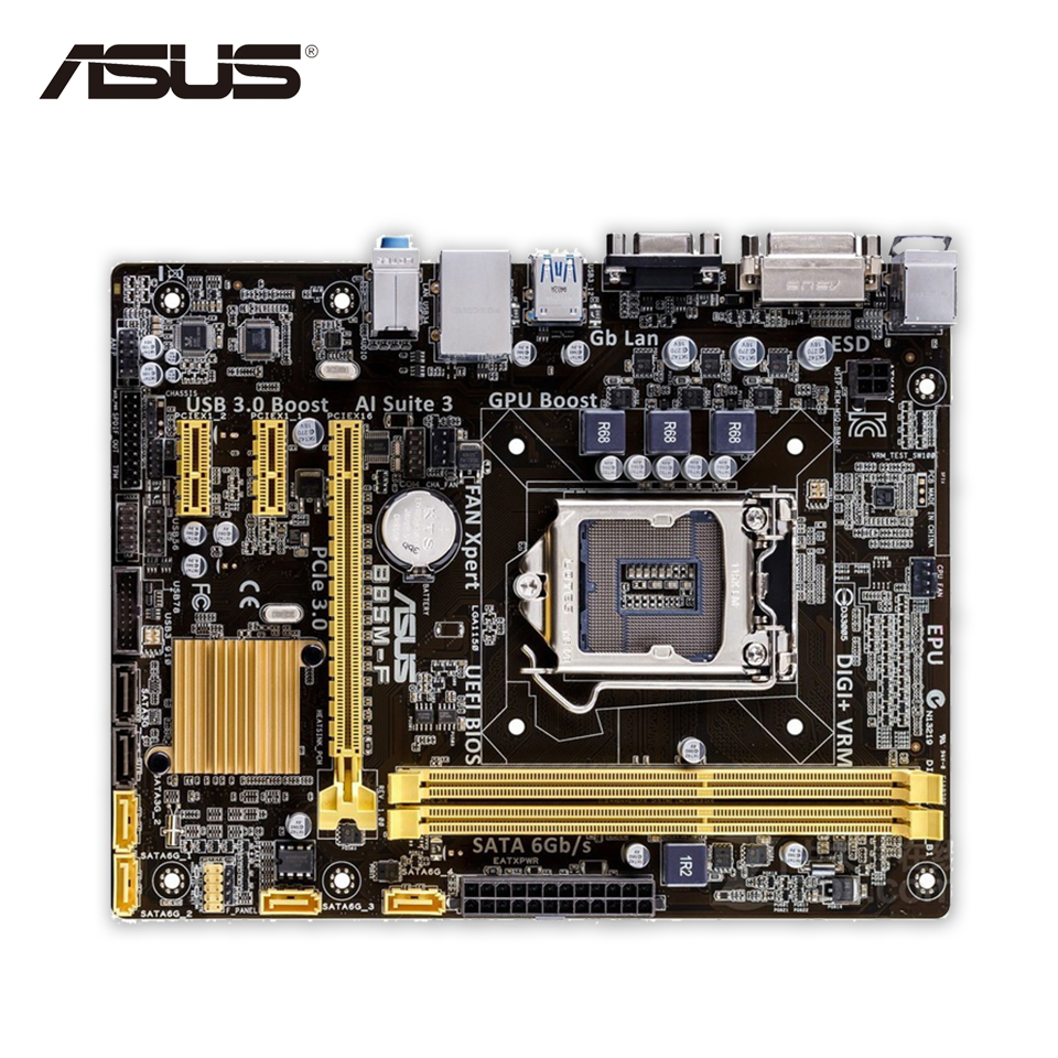 Asus B85M-F Desktop Motherboard B85 Socket LGA 1150 i7 i5 i3 DDR3 16G SATA3 Micro-ATX asus b85m e desktop motherboard b85 socket lga 1150 i7 i5 i3 ddr3 32g sata3 usb3 0 micro atx second hand high quality