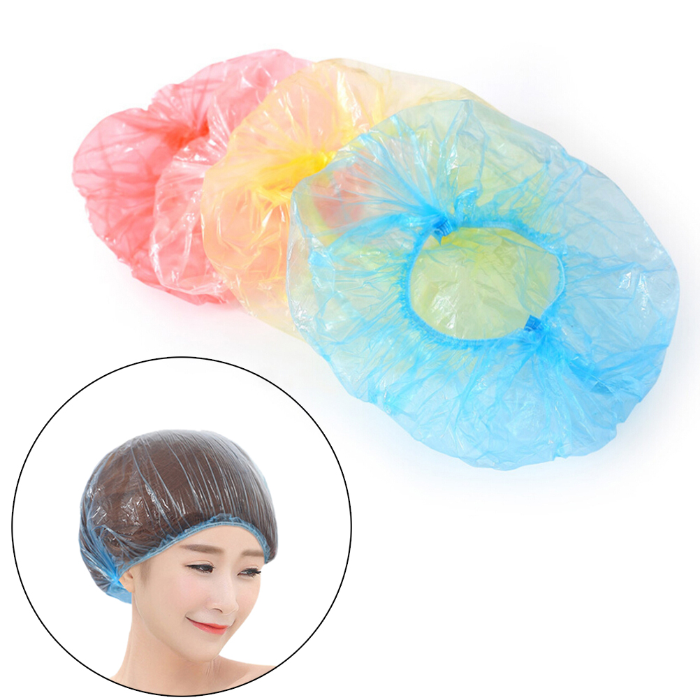 10Pcs Disposable Shower Cap Hair Treatment Cap Bathing Cap