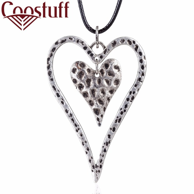 Vintage silver heart pendant women jewelry statement necklaces vintage silver heart pendant women jewelry statement necklaces pendants wholesale choker long necklace colar christmas aloadofball Image collections