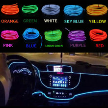 1M/2M/3M/5M Waterproof LED Strip Light Neon Light Glow EL Wire Rope Tube Cable USB Car Dc12V Cigarette For Car Decoration Party(China)