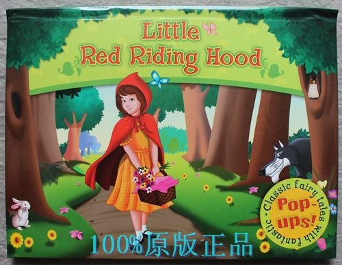 Free Shipping Little Red Riding Hood Children Pop Up Classic Story