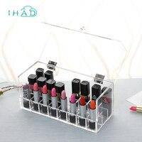 Acrylic Dust lipstick storage box Cosmetic Organizer Clear Makeup nail polish Display Box Acrylic Case Holder finishing Boxes