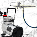 Precision Detail AB-180S Airbrush Kits with Air Compressor TC-20B & Air Hose