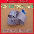 1 шт. 30pin обратное направление Новый FFC FPC плоский гибкий кабель 1 0 мм шаг 30 pin длина 100 см 1000 мм ленточный гибкий кабель