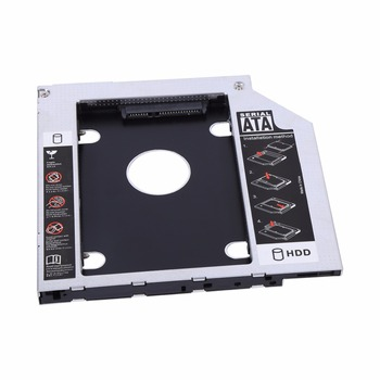 9.5mm Aluminum SATA HDD SSD Enclosure Hard Disk Drive Bay Caddy Optical DVD Adapter For Laptop