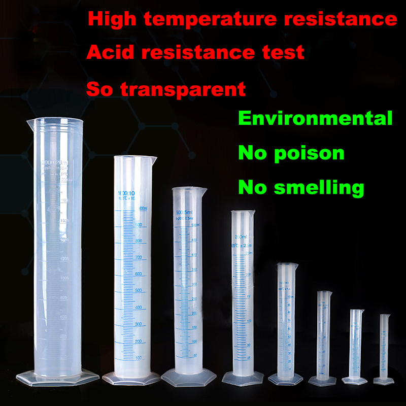 1000ml 2pcs High quality Transparent Plastic chemistry Cylinder lab supplies Graduate Cilinder Volumetric free shipping models atomic orbital of ethylene molecular modeling chemistry teaching supplies