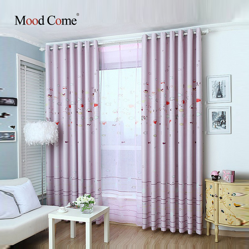 the underwater world children curtains baby room curtains for living room the bedroom blackout curtains for