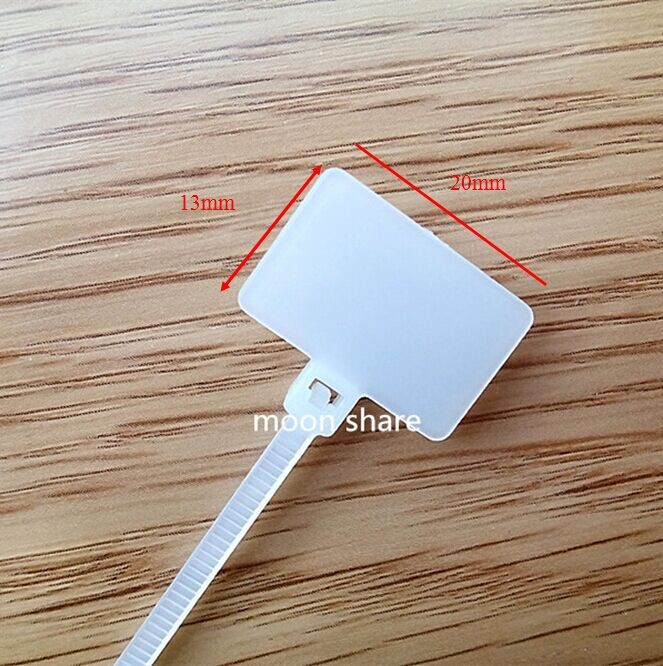 Details about  /Amgate 100 Pcs Write on Ethernet Wire Zip Ties Cable Mark Tags Nylon Power Label