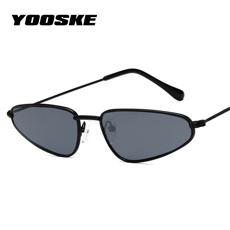 bc20b4a9ed707 YOOSKE Small Frame Cat Eye Sunglasses Women Trendy Catwalk Sun glasses  Famle Drop Shaped Ocean Retro Sunglasses for Women UV400-in Sunglasses from  Apparel ...