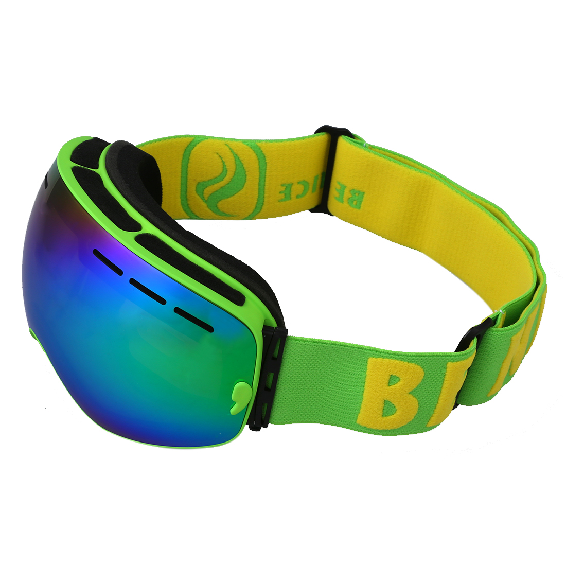 5Set Sale BENICE ski goggles double layer anti-fog eyes green frame