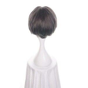 """Image 4 - Ccutoo 12 """"מיילס Edgeworth תסרוקות מרכזית פרידה גריי קצר המפלגה של התנגדות חום שיער סינטטי קוספליי פאה לגברים"""