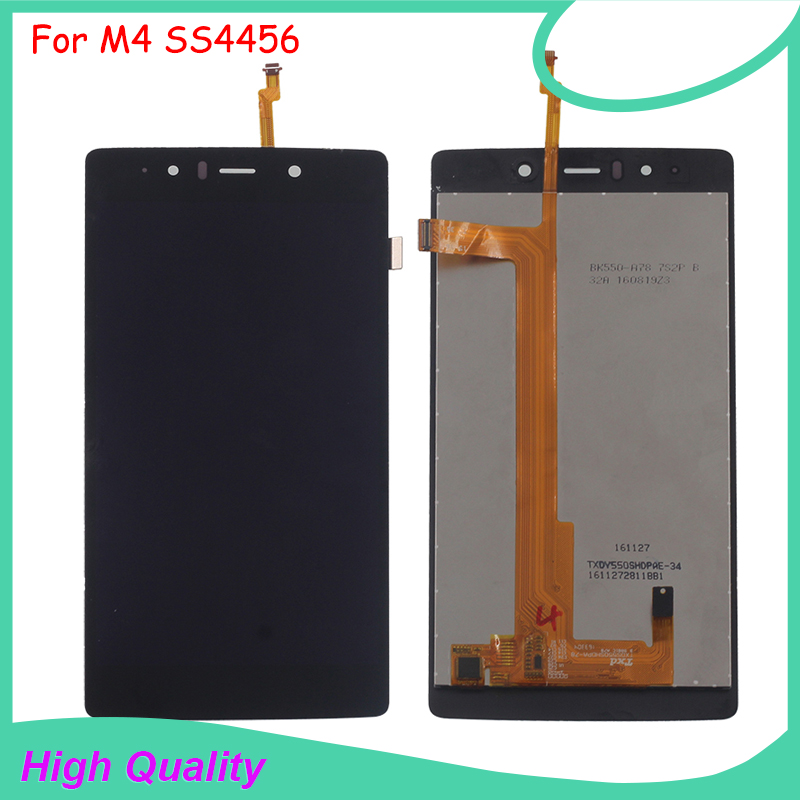 LCD Display Touch Screen For M4 SS4456 4456 TXDS550SHDPA-78 Black Color Mobile Phone LCDs Free Shipping