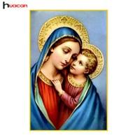 New Arrivals Diamond Painting Religion Cross Stitch Diamond Embroidery Mosaic Holy Jesus Family Home Decoration Christmas