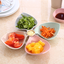 Food Grade Material Snack Plates Multifunctional Sauce Spice Salad Storage dinnerware Tools 1pcs Cup and 4pcs