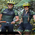 FRENESI neue stil overall 2019 Armee grün mosaik paar modelle Frauen radfahren Skinsuit männer bike tights triathlon anzug Kolumbien