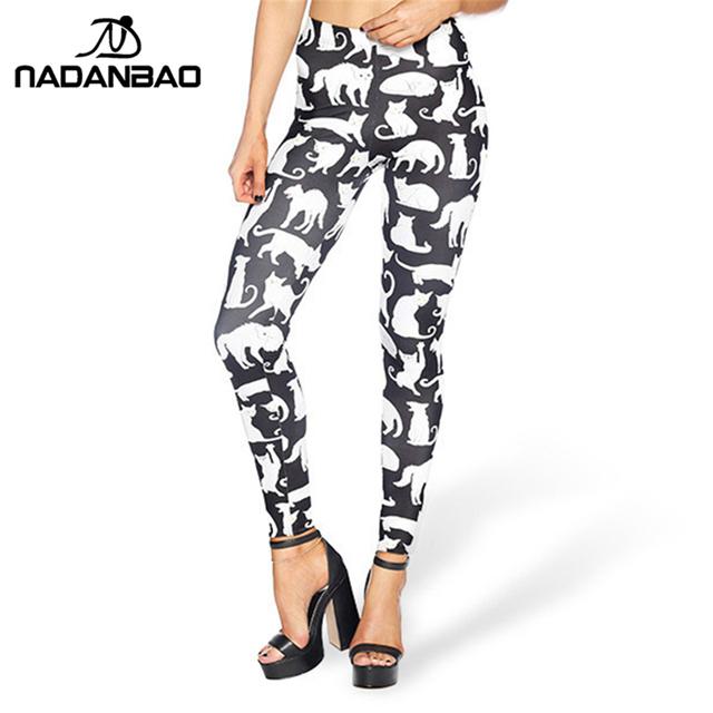 High Waist Legging Catton Lovely Cat Printed leggins for Women leggings