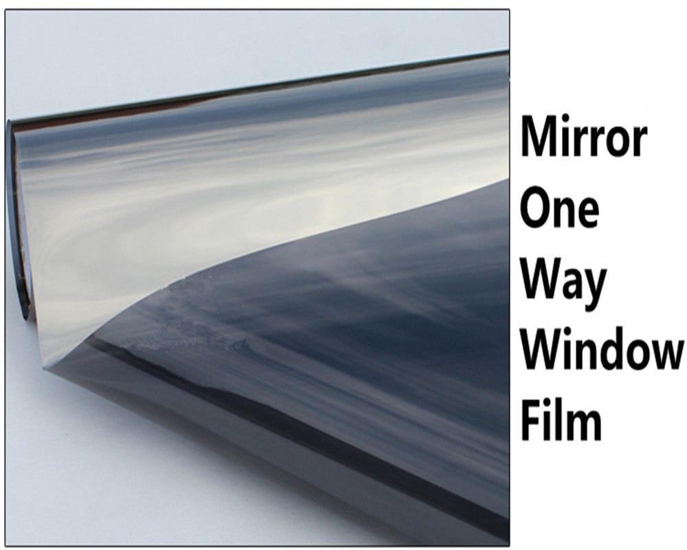 100cm x 600cm Grijs & Zilver Isolatie Glasfolie Zonne Tint Reflecterende Een Manier Spiegel Venster Tint-in Decoratief folie van Huis & Tuin op  Groep 3
