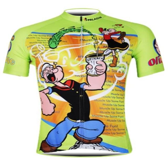 4de0deb43 Popeye Cycling Jersey 2018 men Cycling Clothing Summer Sport Bike Jersey  Quick Dry Tops Cycling Wear