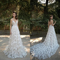 Simple Elegant Sweetheart A Line Wedding Dress 2017 New Arrival 3D Floral Appliques Bridal Wedding Gowns Vestido de Noiva Longa