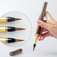 3pcs/set Chinese Calligraphy Writing Chinese Painting Brush Pen Weasel Hair Regular Script Brush Pen Type Brushes Study Supplies