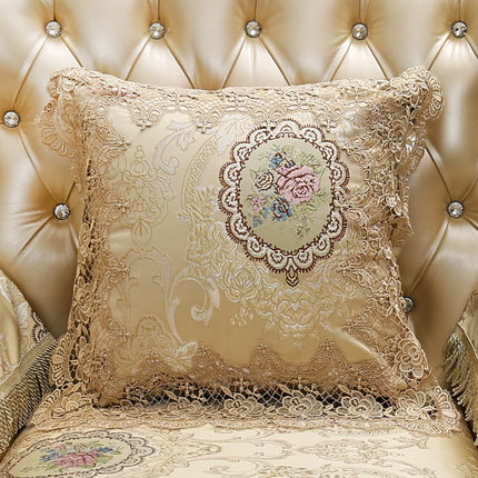 2019 European style Leather soft pillow cushion living room household Luxury lace cushions Cover Seat Case Pillowcase