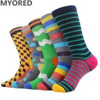 MYORED Brand New Men Socks Cotton Colorful Terry Socks Long Tube Towel Sock For Man Women