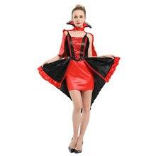 Womens Sexy Vampire Vixen Costume Vampiress Cosplay Halloween Carnival Mardi Gras Party Fancy Dress