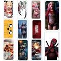 Жесткий Пластиковые Чехлы Для Iphone 5 5S SE 6 6 S Случаях Marvel харли Квинн Дэдпул Comic Print Случаях Для Apple Iphone5S 6 Телефон Мешки