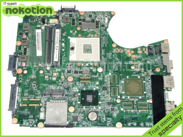 NOKOTION 31BL6MB00N0 laptop motherboard for TOSHIBA SATELLITE L655 series A000075480 INTEL HM55 GMA HD DDR3 DA0BL6MB6G1 nokotion v000185020 for toshiba satellite l505 laptop motherboard gm45 ddr2 6050a2250301 mb a03