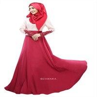 Кафтан Абая джилбаба исламистского Лук Женщины с длинным рукавом коктейльное платье макси женщин Абая Коран мусульманские платья