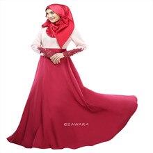 Kaftan Abaya Jilbab Islamischen Muslimischen Bogen Frauen Langarm Cocktail Maxi Kleid Frauen Abaya Koran Muslimischen Kleider