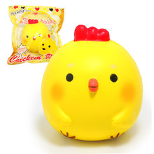 "HOT 3.9 ""Jumbo κοτόπουλο μωρό Squishy μαλακή κούκλα συμπίεση συλλογή παιχνιδιών αρχική συσκευασία Cartoon αρωματικά αργά αυξανόμενη λουράκι τηλέφωνο"