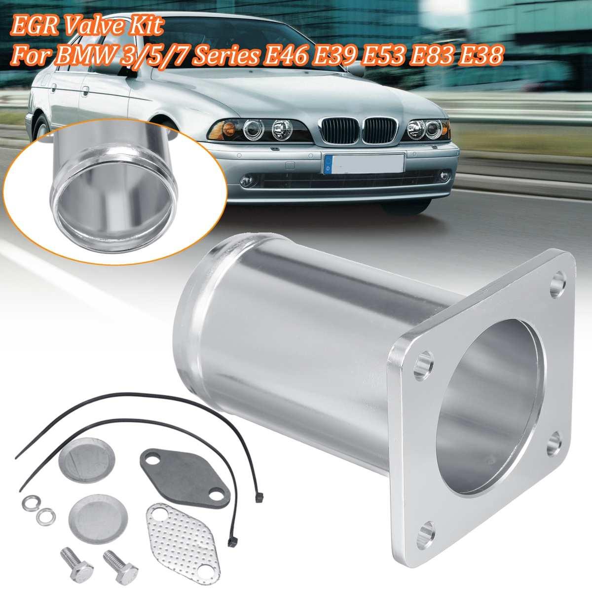 Car 1Set Stainless Steel Egr Removal Kit Blanking Bypass For BMW 3 5 7 Series E46 E39 E53 E83 E38 318d  Remove Repair Tool Kit