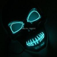 Yeni Tip 10 Renkler Seç EL Tel hayalet Maske DC-3V LED Neon Işık Neon EL Halat Tüp Dans Parti Dekor için
