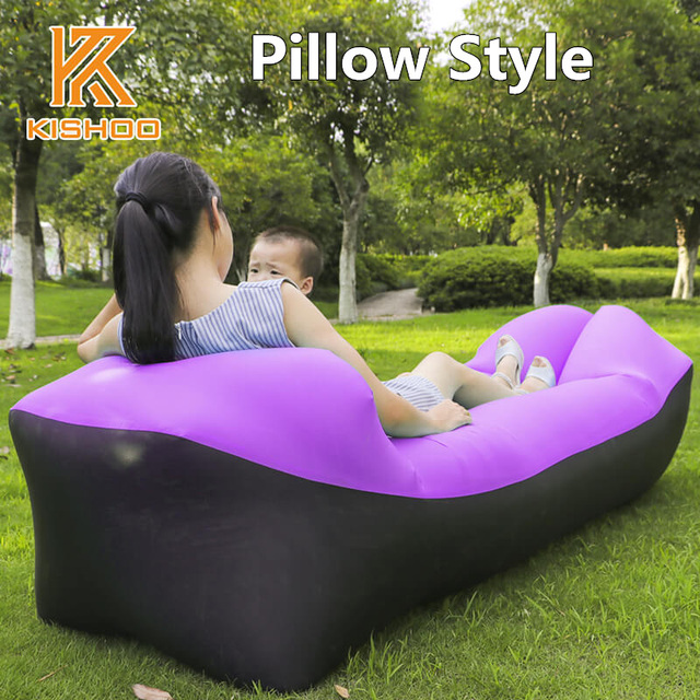 Inflatable Sofa Air Bed Lounger: Fashion Inflatable Air Sofa Bed Lazy Sleeping Bag Couch