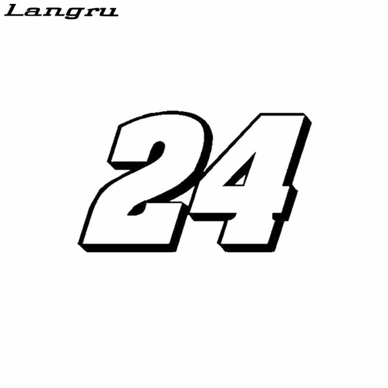 Langru Interesting Number 24 Decoration Car-styling Sticker Decal Vinyl Graphical Jdm(China)