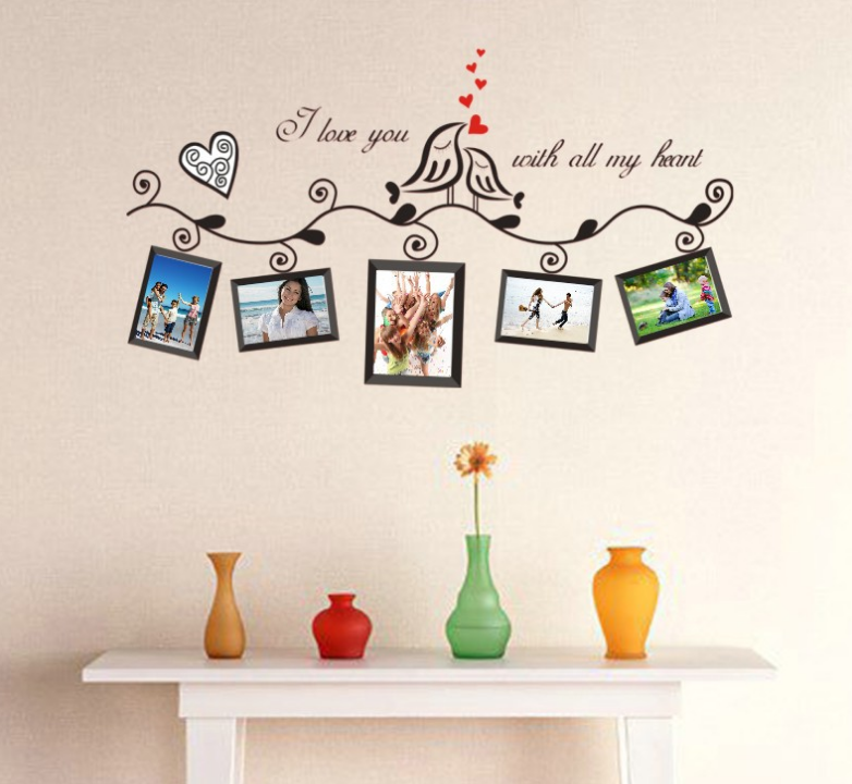 Black Love Bird Brown Photo Wall Stickers 3d Diy Photo Wall Stickers Glue Home Wall Wall Murals Art Home Decoration Ql 001