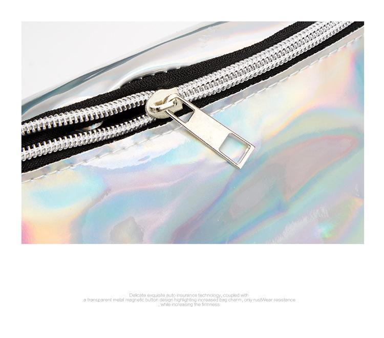 zíper moda neutro praia saco multifuncional ajustável confortável saco crossbody
