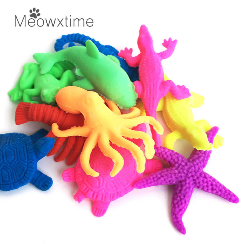 10pcs/set Random Marine animal Water Beads Growing-water-balls Hydrogel Polymer Crystal Soil For Kids Toy Gift Flower Cultivate