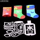 ABOOM Fresh 19Pcs/Lot Christmas Sock Stocking Stencil Metal Cutting Dies Stencil For DIY Scrapbooking Album Embossing Paper Card