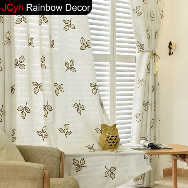 US $23.41 |Tulle curtains for living room kitchen door small window  Curtains bedroom panels Embroidery Drape Sheer Curtain window fabric-in  Curtains ...