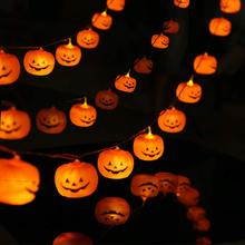 METABLE 1PCS Halloween String LED Pumpkin Holiday Lights for Outdoor Decor,2 Modes Steady/Flickering Light 20 One