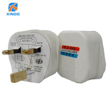 цена на UK 3 Pins AC Electrical Power Rewireable Plug Male W/ Wire Fused Socket Outlet Adaptor Adapter Extension Cord Cable Connector