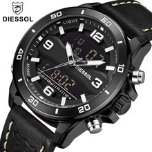 Sol Элитный бренд для мужчин модные спортивные часы кварцевые аналоговые Дата человек повседневное кожа Военная унифо
