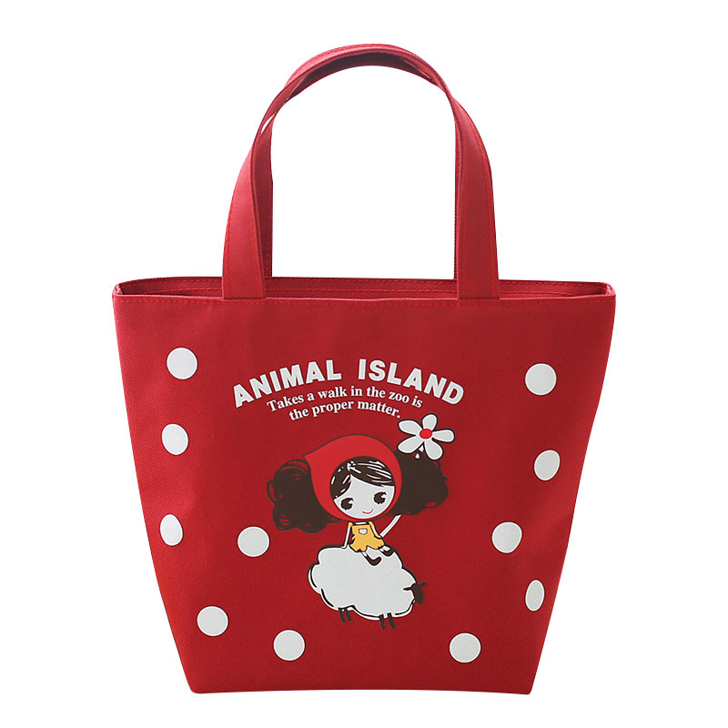 Cartoon Girl Oxford Aluminum Lunch Bag for Kids Thermal Cooler Box Food Container Tote Insulation Packs for Picnic Travel School