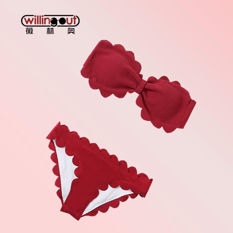 0a15794186f Červené barevné víno Doprava zdarma Bikini oděvy bez drátků a bez ...