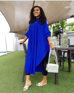 Image 2 - Afrikanische Kleider Für Frauen Pailletten Afrika Kleidung Muslimischen Lange Kleid Hohe Qualität Länge Mode Afrikanischen Kleid Für Dame