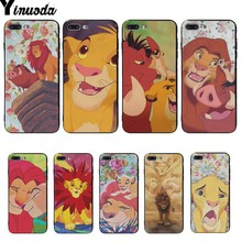 Yinuoda The Lion King Coque Shell Phone Case For iphone 7 Cover cases X XS XR XSMAX 7plus 8 8plus 6 6s