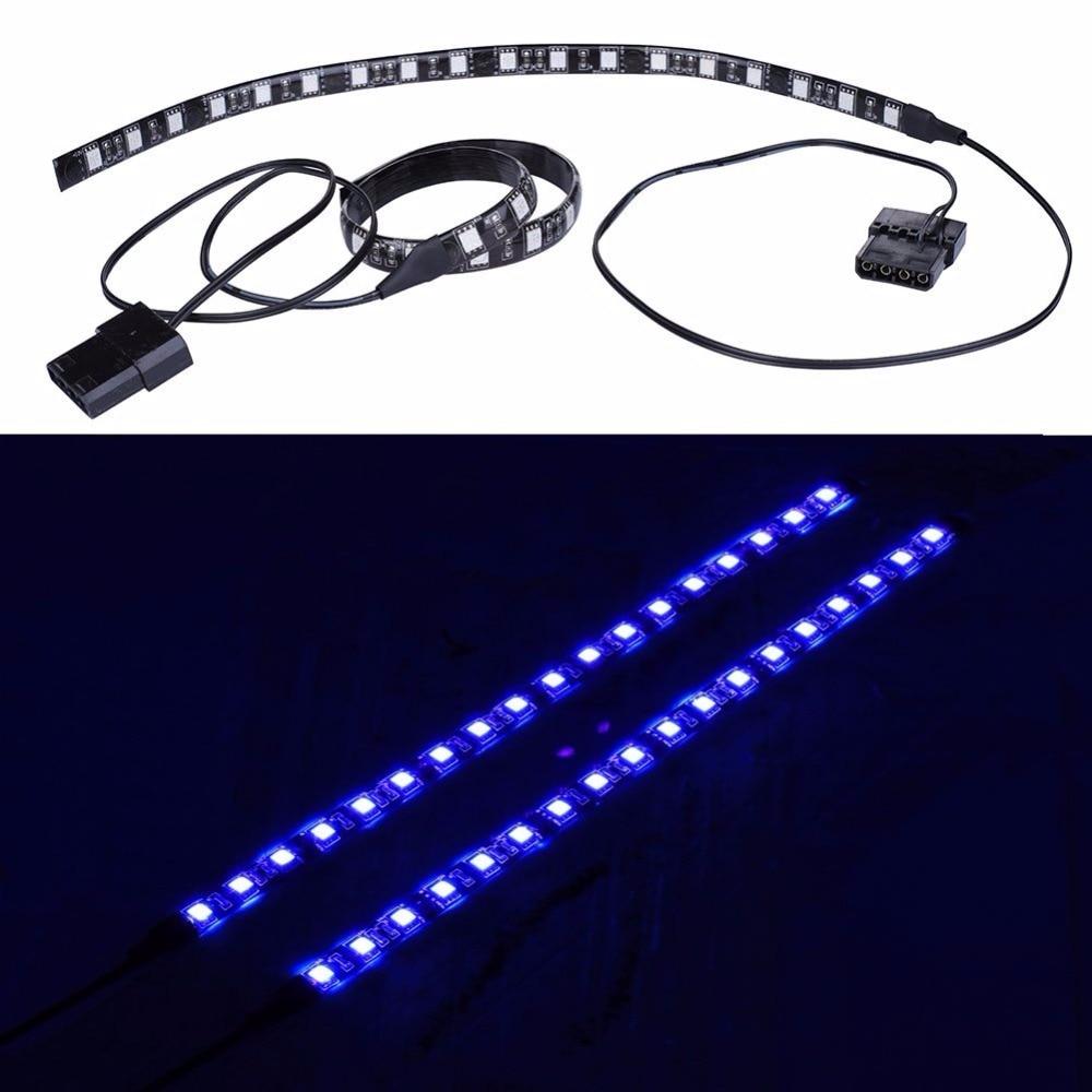 RED/Green/Blue/UV Magnetic Molex 2X LED Strip For PC Case Lighting Kit LED Computer Lighting Light Strip (30cm,18leds,S Series)